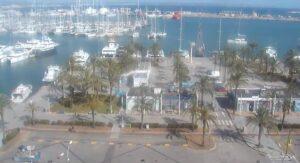 LIVE webcam Palma de Mallorca Livecam marina from Auditorium