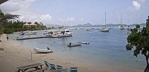 Live Webcam St. John Cruz Bay – The Beach Bar – U.S. Virgin Islands